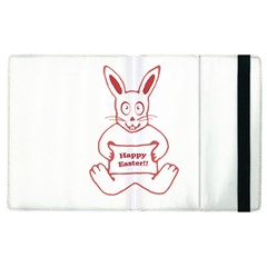 Cute Bunny With Banner Drawing Apple Ipad 2 Flip Case by dflcprints