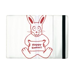 Cute Bunny With Banner Drawing Apple Ipad Mini Flip Case by dflcprints