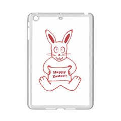 Cute Bunny With Banner Drawing Apple iPad Mini 2 Case (White)