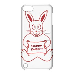 Cute Bunny With Banner Drawing Apple Ipod Touch 5 Hardshell Case With Stand by dflcprints
