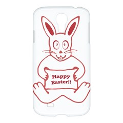 Cute Bunny With Banner Drawing Samsung Galaxy S4 I9500/i9505 Hardshell Case by dflcprints
