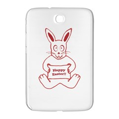Cute Bunny With Banner Drawing Samsung Galaxy Note 8 0 N5100 Hardshell Case  by dflcprints