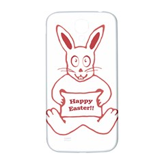 Cute Bunny With Banner Drawing Samsung Galaxy S4 I9500/i9505  Hardshell Back Case by dflcprints