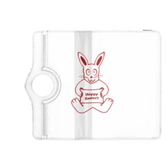 Cute Bunny With Banner Drawing Kindle Fire Hdx 8 9  Flip 360 Case by dflcprints
