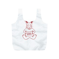Cute Bunny With Banner Drawing Reusable Bag (s) by dflcprints