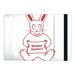 Cute Bunny With Banner Drawing Samsung Galaxy Tab Pro 10 1  Flip Case by dflcprints