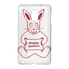 Cute Bunny With Banner Drawing Samsung Galaxy Note Edge Hardshell Case by dflcprints