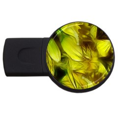 Abstract Yellow Daffodils 2GB USB Flash Drive (Round) by bloomingvinedesign