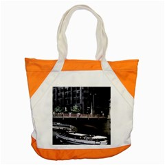 Adams Street Bridge Accent Tote Bag by bloomingvinedesign