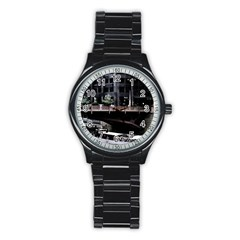 Adams Street Bridge Sport Metal Watch (black)