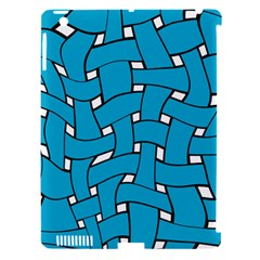 Blue Distorted Weave Apple Ipad 3/4 Hardshell Case (compatible With Smart Cover) by LalyLauraFLM