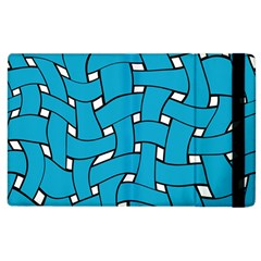 Blue distorted weave Apple iPad 2 Flip Case by LalyLauraFLM