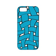 Blue Distorted Weave Apple Iphone 5 Classic Hardshell Case (pc+silicone) by LalyLauraFLM