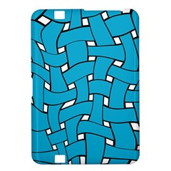 Blue Distorted Weave Kindle Fire Hd 8 9  Hardshell Case by LalyLauraFLM
