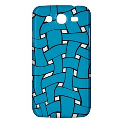 Blue Distorted Weave Samsung Galaxy Mega 5 8 I9152 Hardshell Case  by LalyLauraFLM