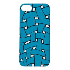 Blue Distorted Weave Apple Iphone 5s Hardshell Case by LalyLauraFLM