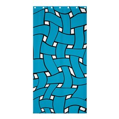 Blue Distorted Weave Shower Curtain 36  X 72  (stall) by LalyLauraFLM