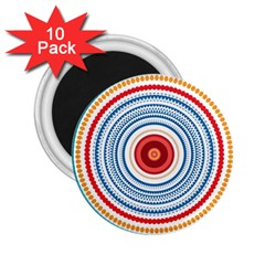 Colorful Round Kaleidoscope 2 25  Magnet (10 Pack) by LalyLauraFLM