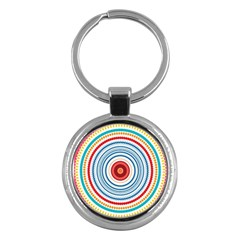 Colorful Round Kaleidoscope Key Chain (round) by LalyLauraFLM