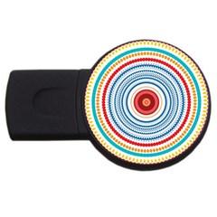 Colorful Round Kaleidoscope Usb Flash Drive Round (2 Gb) by LalyLauraFLM