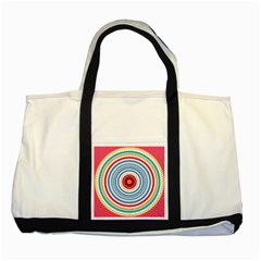 Colorful Round Kaleidoscope Two Tone Tote Bag by LalyLauraFLM