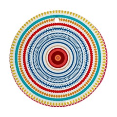 Colorful Round Kaleidoscope Round Ornament (two Sides) by LalyLauraFLM