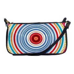 Colorful Round Kaleidoscope Shoulder Clutch Bag by LalyLauraFLM