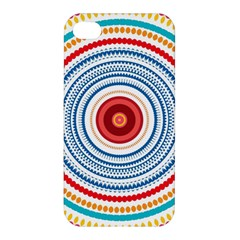 Colorful Round Kaleidoscope Apple Iphone 4/4s Premium Hardshell Case by LalyLauraFLM