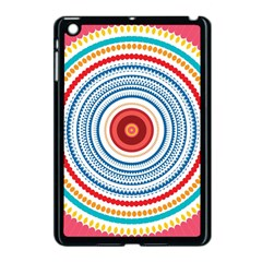 Colorful Round Kaleidoscope Apple Ipad Mini Case (black) by LalyLauraFLM