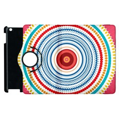 Colorful Round Kaleidoscope Apple Ipad 3/4 Flip 360 Case by LalyLauraFLM