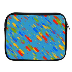 Colorful Shapes On A Blue Background Apple Ipad 2/3/4 Zipper Case by LalyLauraFLM