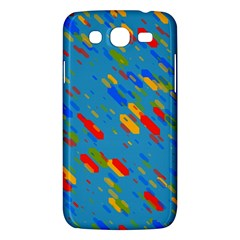 Colorful Shapes On A Blue Background Samsung Galaxy Mega 5 8 I9152 Hardshell Case  by LalyLauraFLM