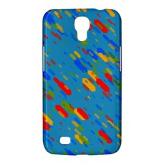 Colorful Shapes On A Blue Background Samsung Galaxy Mega 6 3  I9200 Hardshell Case by LalyLauraFLM