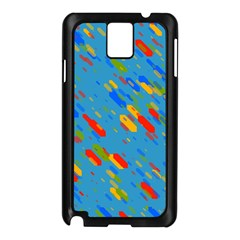 Colorful Shapes On A Blue Background Samsung Galaxy Note 3 N9005 Case (black) by LalyLauraFLM