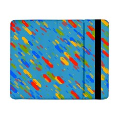 Colorful Shapes On A Blue Background Samsung Galaxy Tab Pro 8 4  Flip Case by LalyLauraFLM