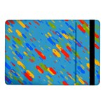 Colorful shapes on a blue background Samsung Galaxy Tab Pro 10.1  Flip Case Front