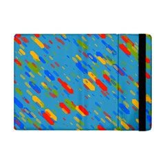 Colorful Shapes On A Blue Background Apple Ipad Mini 2 Flip Case by LalyLauraFLM