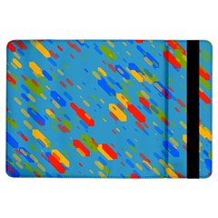 Colorful Shapes On A Blue Background Apple Ipad Air Flip Case by LalyLauraFLM
