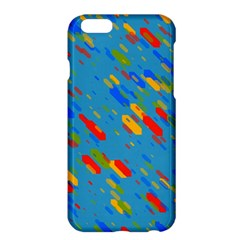 Colorful Shapes On A Blue Background Apple Iphone 6 Plus Hardshell Case by LalyLauraFLM