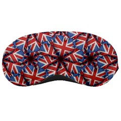 Heart Shaped England Flag Pattern Design Sleeping Mask by dflcprints