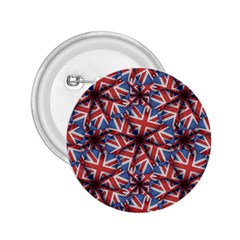 Heart Shaped England Flag Pattern Design 2 25  Button by dflcprints