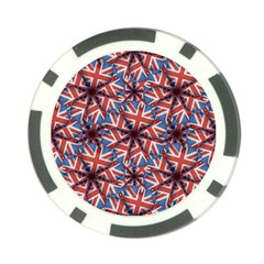Heart Shaped England Flag Pattern Design Poker Chip by dflcprints