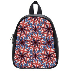 Heart Shaped England Flag Pattern Design School Bag (small) by dflcprints