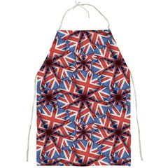 Heart Shaped England Flag Pattern Design Apron by dflcprints