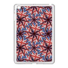 Heart Shaped England Flag Pattern Design Apple Ipad Mini Case (white) by dflcprints