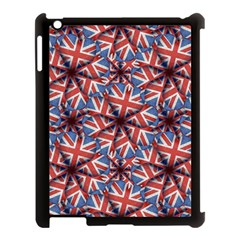 Heart Shaped England Flag Pattern Design Apple Ipad 3/4 Case (black) by dflcprints
