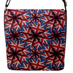 Heart Shaped England Flag Pattern Design Flap Closure Messenger Bag (small) by dflcprints