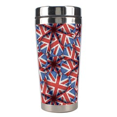 Heart Shaped England Flag Pattern Design Stainless Steel Travel Tumbler by dflcprints