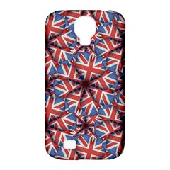 Heart Shaped England Flag Pattern Design Samsung Galaxy S4 Classic Hardshell Case (pc+silicone)