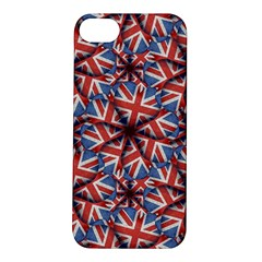 Heart Shaped England Flag Pattern Design Apple Iphone 5s Hardshell Case by dflcprints